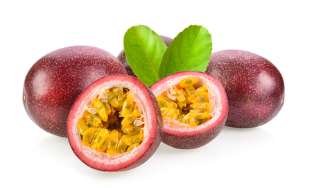 Photo for passionfruits isolated on white background - Royalty Free Image