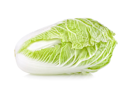 Foto de Chinese cabbage on white background - Imagen libre de derechos