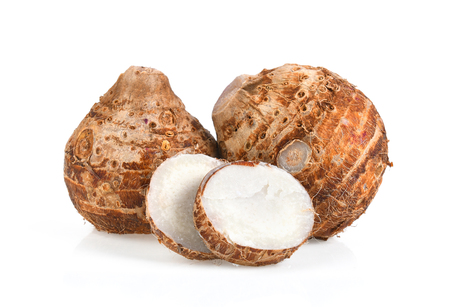 Photo for sweet taro root isolated on white background - Royalty Free Image