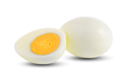Photo for boiled egg on white background - Royalty Free Image