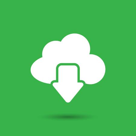 Illustration pour Vector cloud computing download icon - image libre de droit