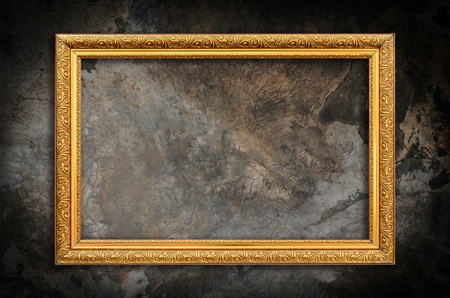 Photo for Picture frame on the wall grunge wall background - Royalty Free Image