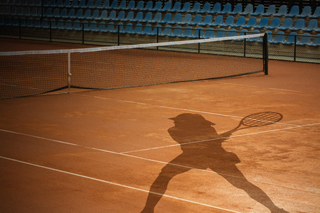 Tennis Court and player shadow