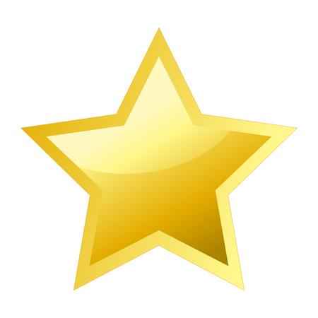 Ilustración de Shiny bright golden five pointed star - Imagen libre de derechos