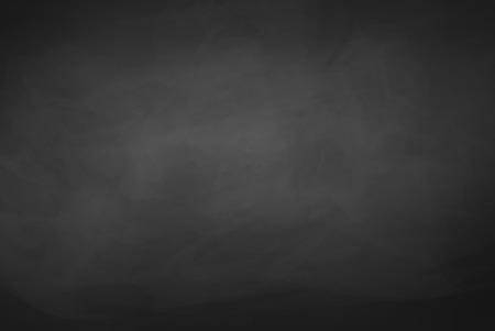 Black grunge chalkboard vector background.