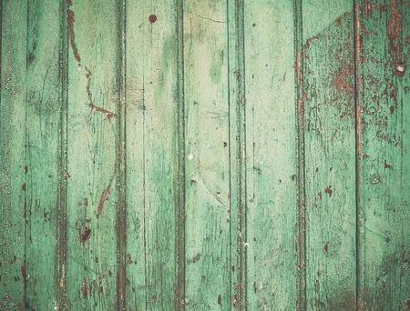 Foto de Old rustic painted cracky green turqouise wooden texture or background - Imagen libre de derechos