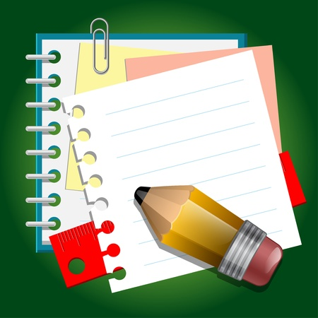Photo pour School paper notes - image libre de droit