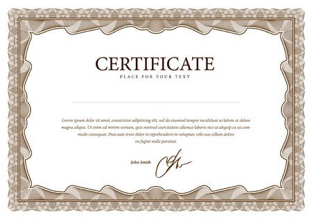 Illustration pour Certificate. Vector pattern that is used in currency and diplomas - image libre de droit