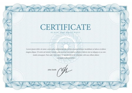 Illustration for Certificate  Vector pattern that is used in currency and diplomas - Royalty Free Image
