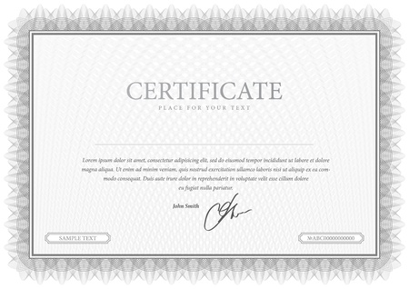 Illustration pour Certificate  Grey Vector pattern that is used in currency and diplomas - image libre de droit