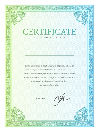 Illustration pour Certificate  Vector pattern that is used in currency and diplomas - image libre de droit