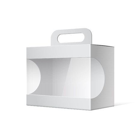 Illustration for Package Cardboard Box with a handle - Royalty Free Image