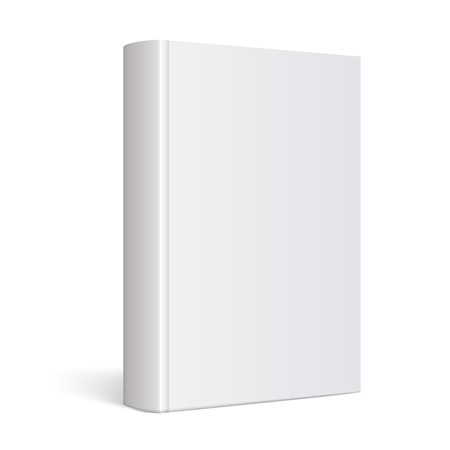 Illustration for Light Realistic Blank book cover vector illustration - Royalty Free Image