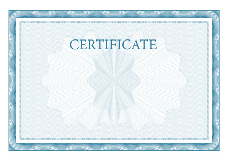 Illustration for Certificate. Award background. Gift voucher. Template diplomas and currency Vector - Royalty Free Image