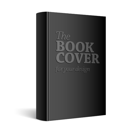 Illustration for Black Realistic Blank book cover vector illustration - Royalty Free Image