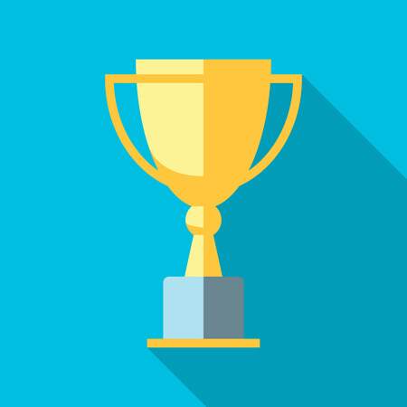 Ilustración de Vector winner cup. Trophy flat icon - Imagen libre de derechos