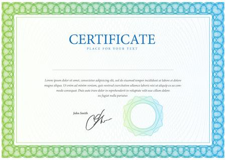 Illustration pour Certificate. Template diplomas, currency. Vector - image libre de droit