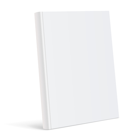 Illustration for Realistic white blank book cover vector illustration. - Royalty Free Image