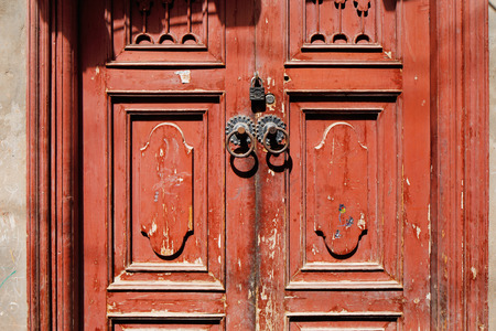 Ornate doors are very common in the ancient city of Kashgar, China (known in Chinese as Kashi). It is an oasis Chinese city on the silk trading route.