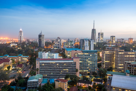 Photo pour Modern Nairobi cityscape - capital city of Kenya, East Africa - image libre de droit