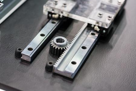 Photo pour linear motor guide & LM Guide part of machine - image libre de droit
