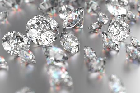 Foto de Luxury diamonds on white backgrounds - Imagen libre de derechos