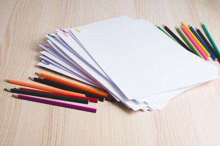 Photo pour Stack of paperwork. Education or business concept - image libre de droit