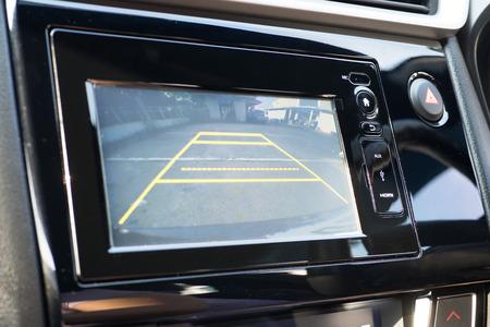 Photo pour Car Rear View System Monitor reverse - image libre de droit