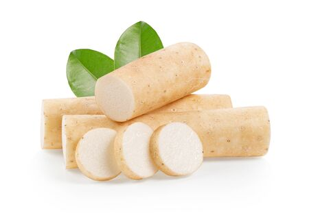 Photo pour Chinese yam on white background. full depth of field - image libre de droit