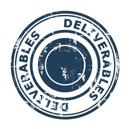 Foto de Deliverables concept stamp isolated on a white background. - Imagen libre de derechos