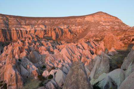 Cappadocia landscape at sunset