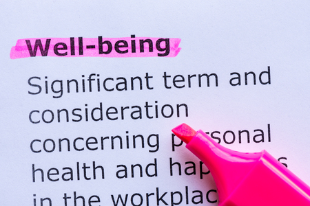 Photo pour well being  word highlighted on the white background - image libre de droit
