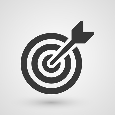 Black target. Icon about business strategies concept.