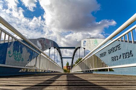 Die Kieler Brücke im Berliner Bezirk Mitte