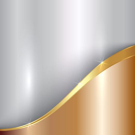 Illustration pour abstract precious metallic background with curve - image libre de droit