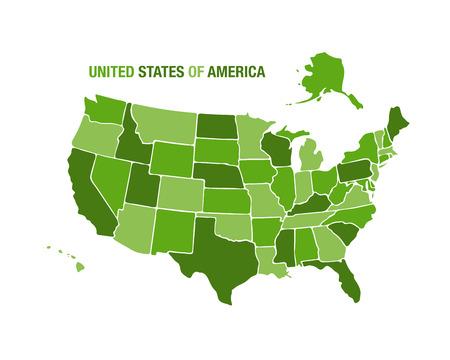 Illustration pour Vector illustration of a united states map - image libre de droit