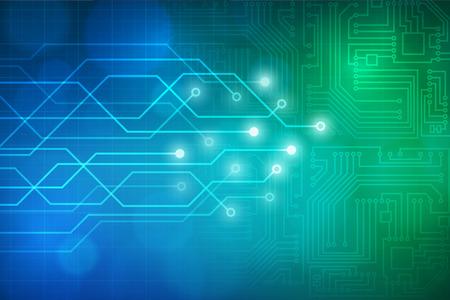 Ilustración de Abstract technology circuit board vector background. layered. - Imagen libre de derechos