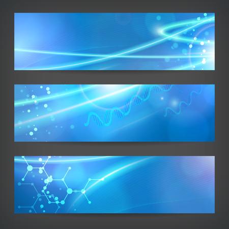 Illustration pour set vector technology chemistry banner vector background for web or print. layered. editable. - image libre de droit