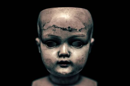 Photo for Creepy doll in the dark - Royalty Free Image