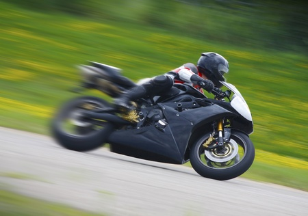 Racing Motorcycle Blur