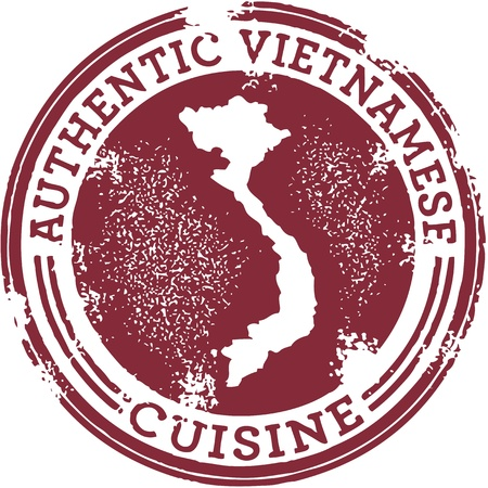 Classic Authentic Vietnamese Food Stamp