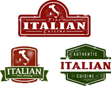 Vintage Italian Restaurant Graphics