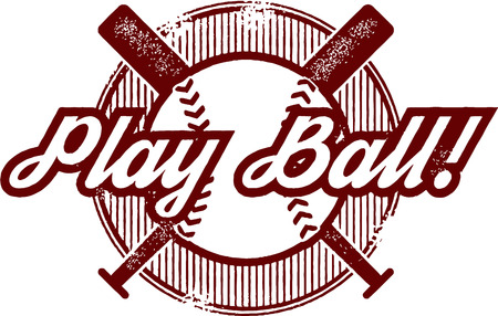 Play Ball Baseball or Softball Sport Stamp