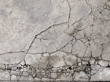 Photo pour Cracked concrete texture closeup background - image libre de droit