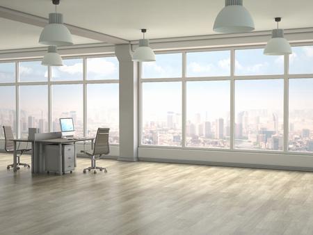 Foto de Modern office interior. 3D render - Imagen libre de derechos