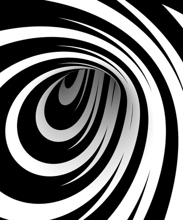 Photo pour Abstract black and white spiral - image libre de droit