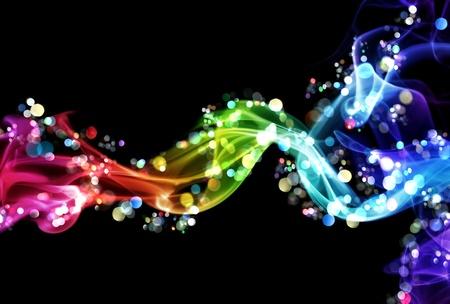 Photo pour Colorful smoke and lights - image libre de droit