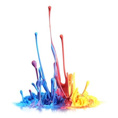Photo pour Colorful paint splash - image libre de droit