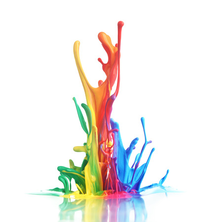 Photo pour Colorful paint splashing - image libre de droit