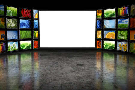 Photo for Tv screeen with images - Royalty Free Image